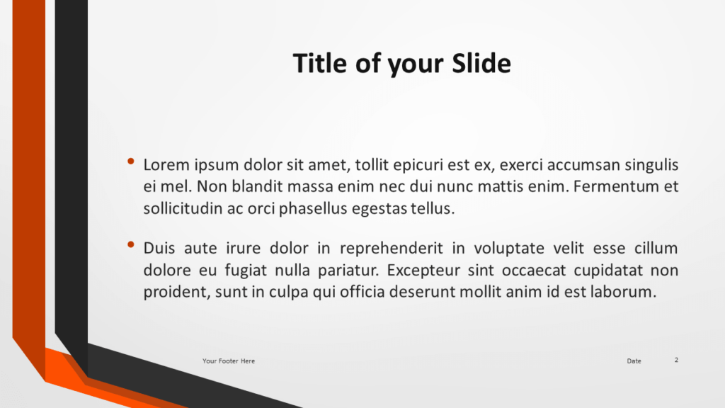 Two Folded Ribbons Template for PowerPoint and Google Slides - Slide 2