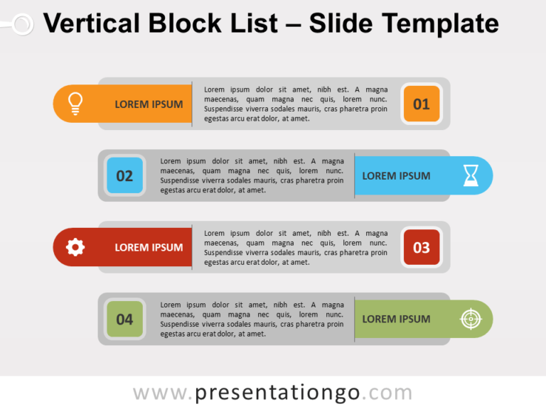 Free Vertical Block List for PowerPoint