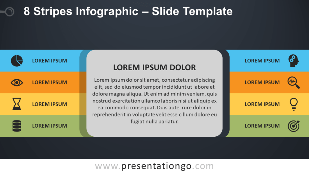 Free 8 Stripes Infographic Diagram for PowerPoint and Google Slides