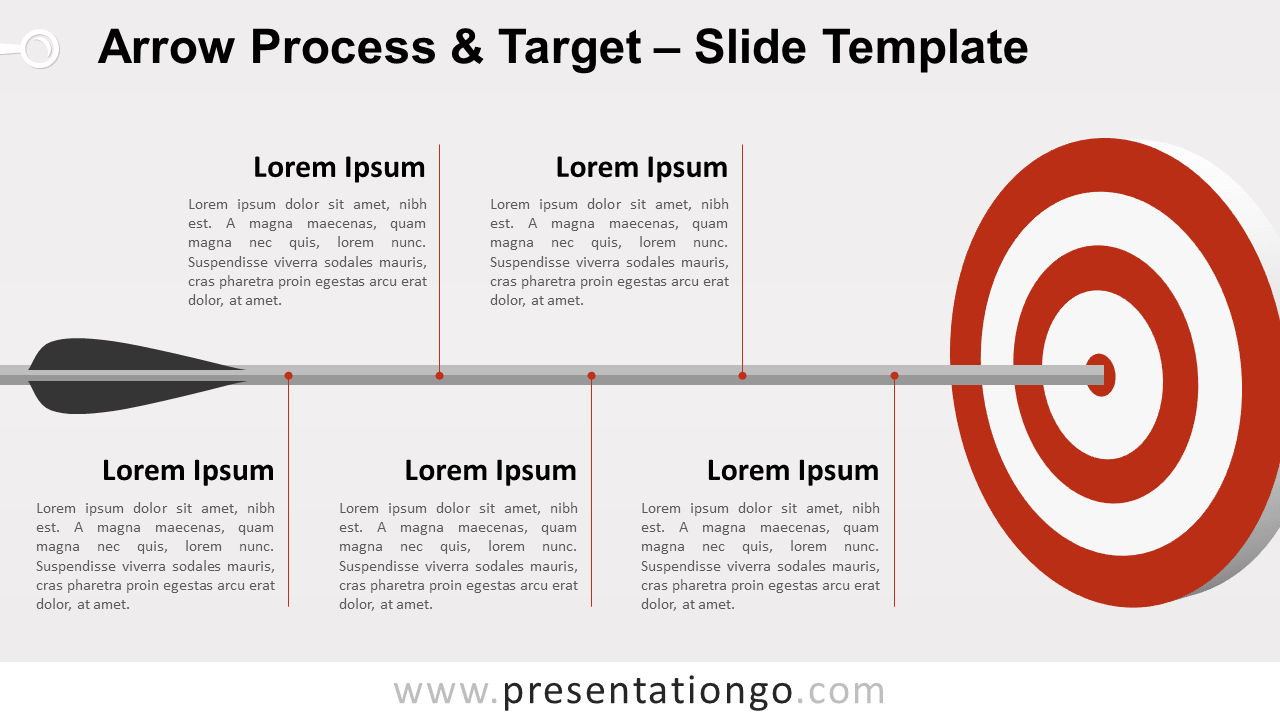 Free Arrow Process and Target for PowerPoint and Google Slides