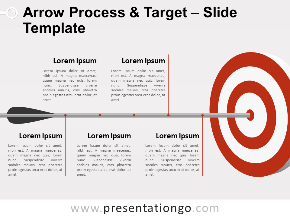 Free Arrow Process and Target for PowerPoint