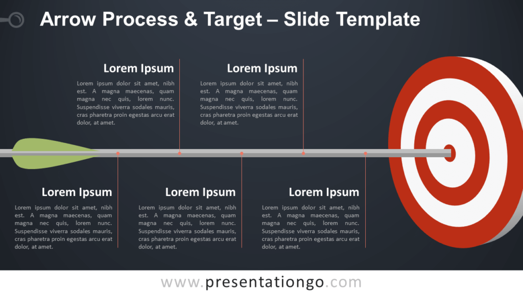 Arrow Process and Target - Free Template for PowerPoint and Google Slides