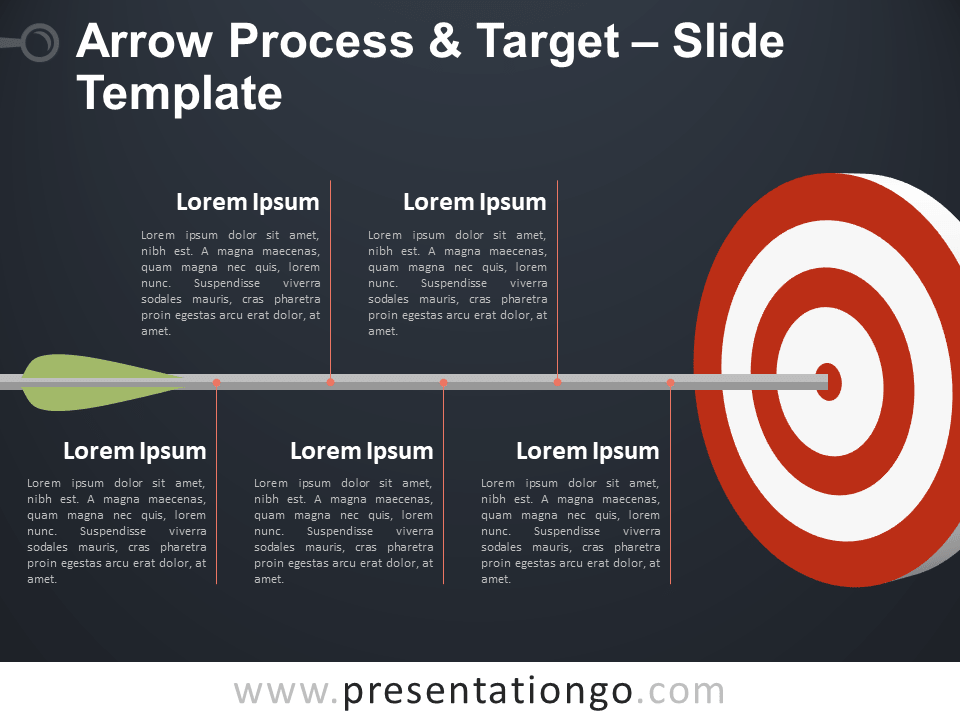Arrow Process and Target - Free Template for PowerPoint