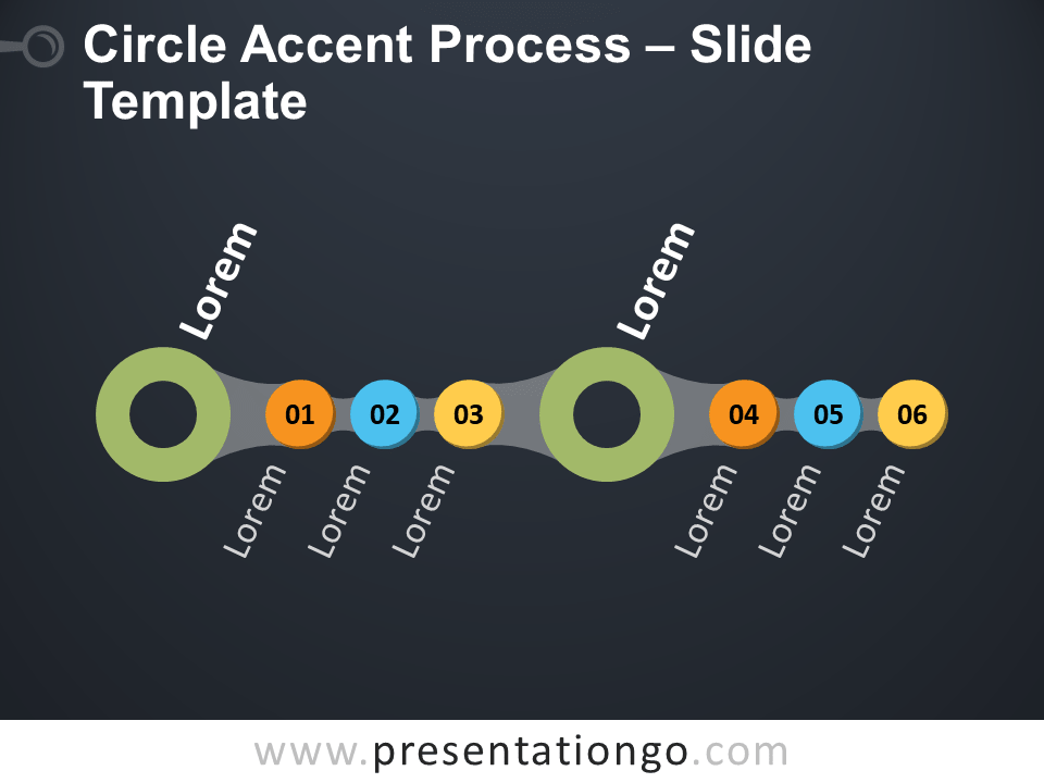 Free Circle Accent Process Diagram for PowerPoint
