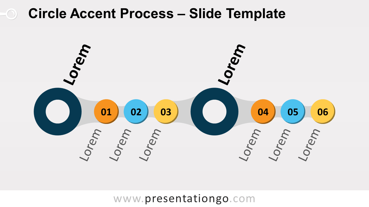 Free Circle Accent Process for PowerPoint and Google Slides