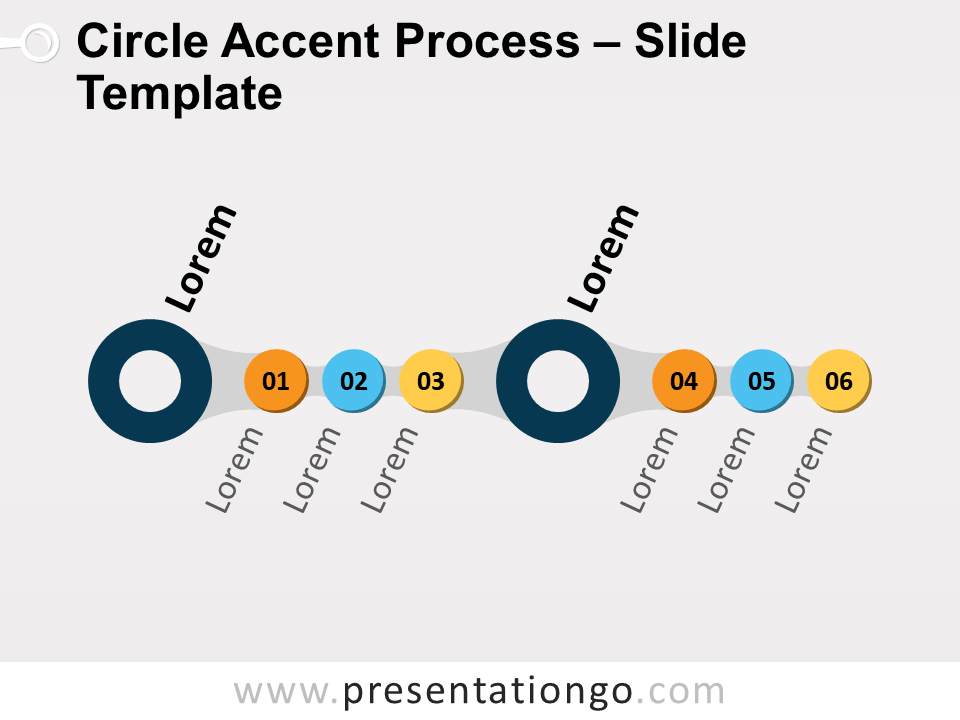 Free Circle Accent Process for PowerPoint