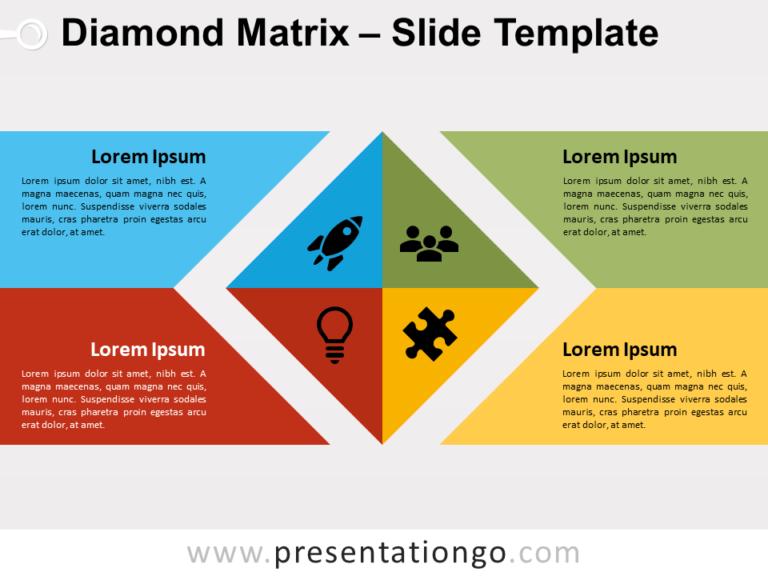 Free Diamond Matrix for PowerPoint