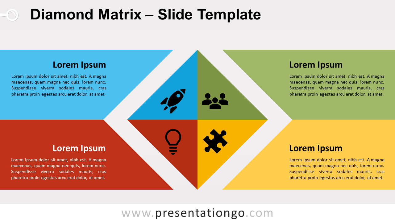 Free Diamond Matrix for PowerPoint and Google Slides