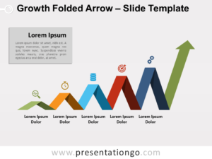 Free Growth-Folded-Arrow-PowerPointGrowth Folded Arrow for PowerPoint