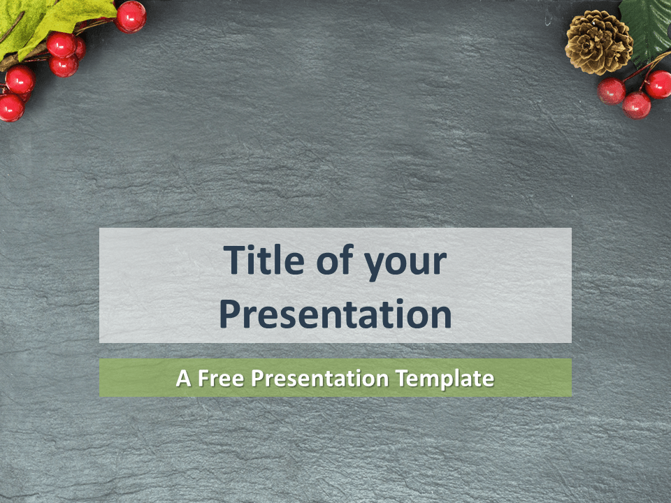 Merry Christmas Template for PowerPoint (Blank Background)