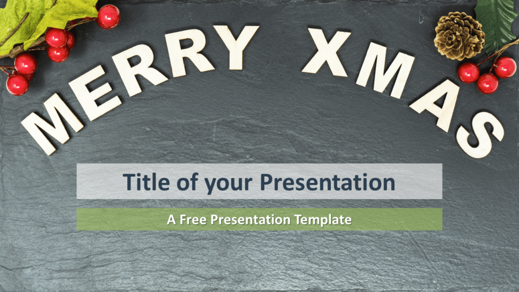 Free Merry Christmas Template for PowerPoint and Google Slides