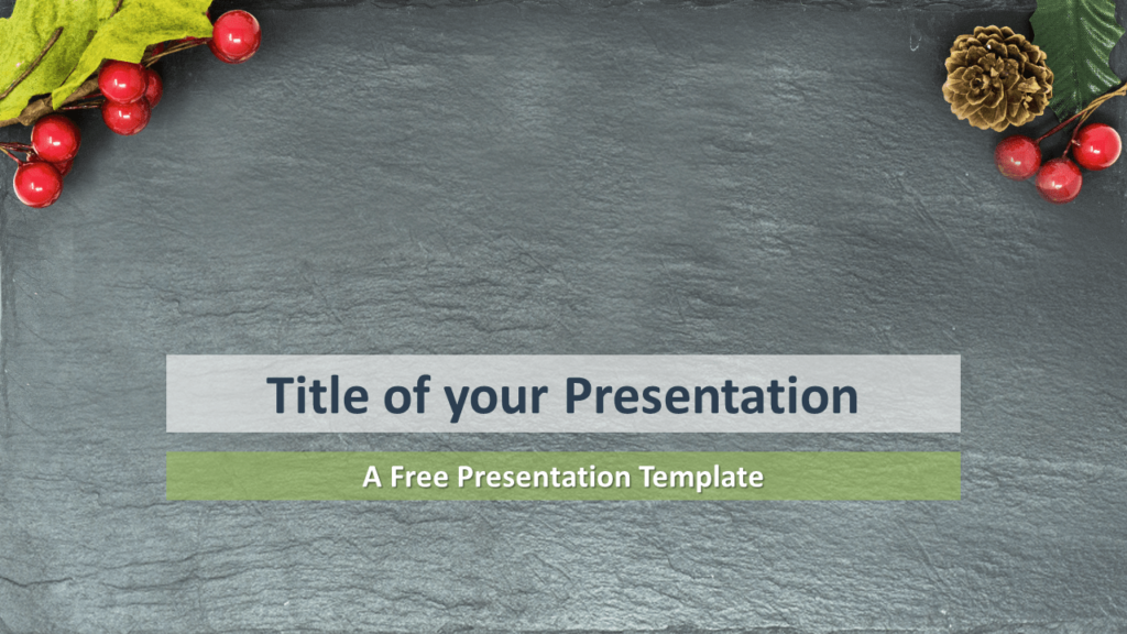 Merry Christmas Template for PowerPoint and Google Slides (Blank background)