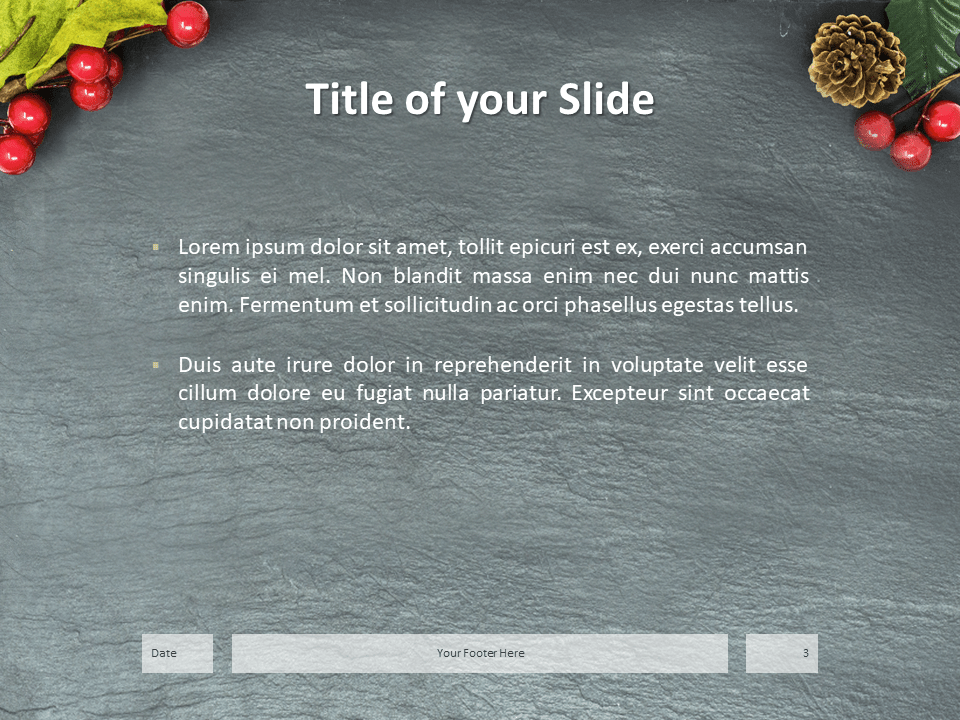 Merry Christmas Template for PowerPoint - Slide 3