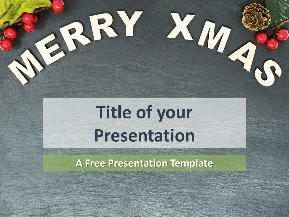 Free Merry Christmas Template for PowerPoint