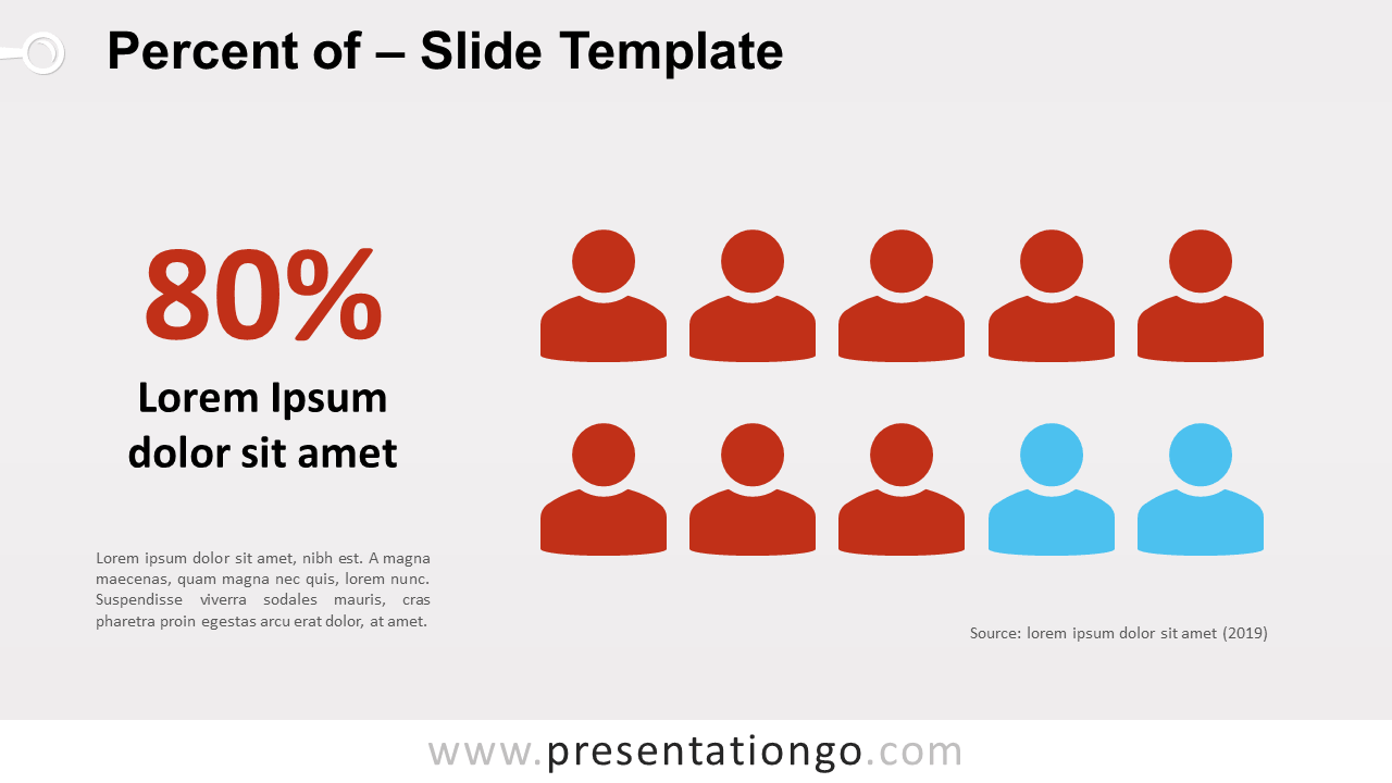 Percent of - Infographic for PowerPoint and Google Slides