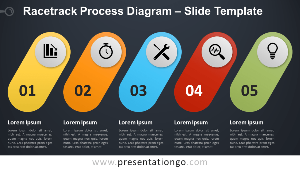 Free Racetrack Process Diagram for PowerPoint and Google Slides
