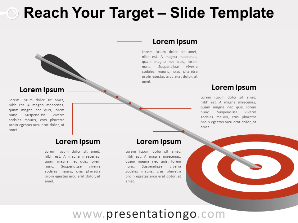 Free Reach Your Target Template for PowerPoint
