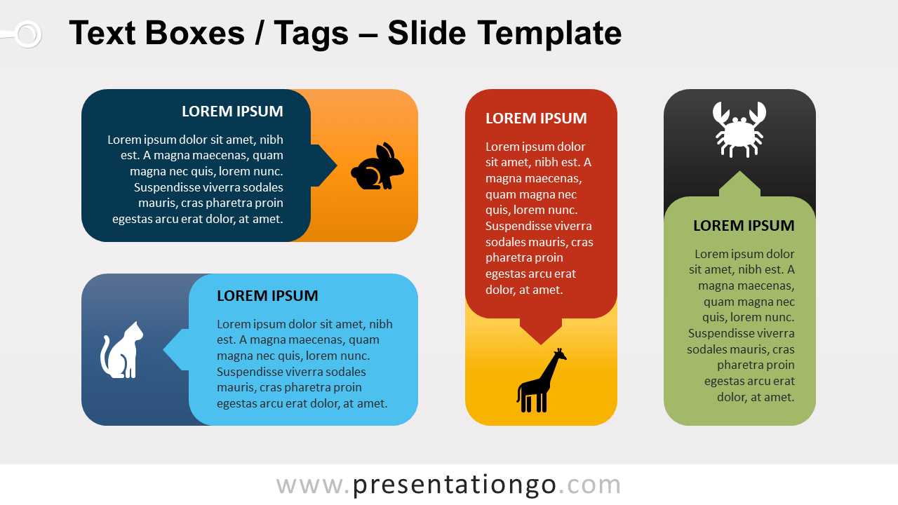 Free Rounded Corner Text Boxes (Tags) for PowerPoint and Google Slides