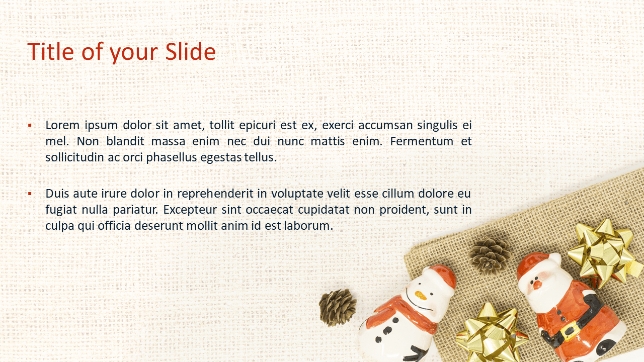 Santa, Snowman and Pinecones Template for PowerPoint and Google Slides - Slide 2