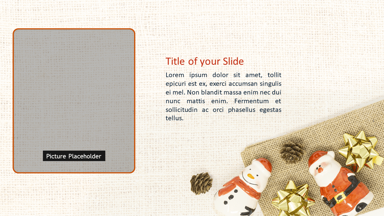 Santa, Snowman and Pinecones Template for PowerPoint and Google Slides - Slide 3