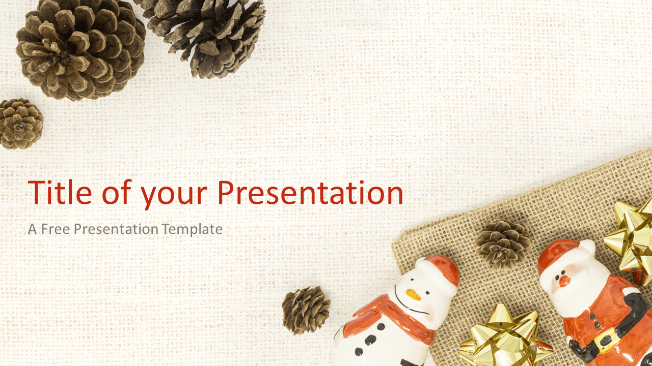 Free Santa, Snowman and Pinecones Template for PowerPoint and Google Slides