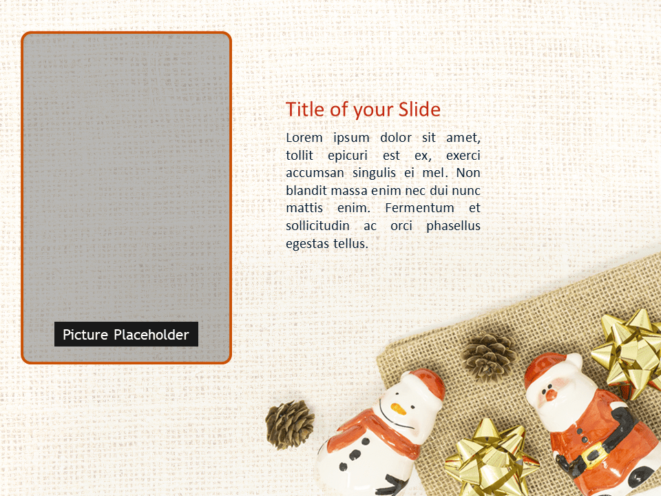 Santa, Snowman and Pinecones Template for PowerPoint - Slide 3