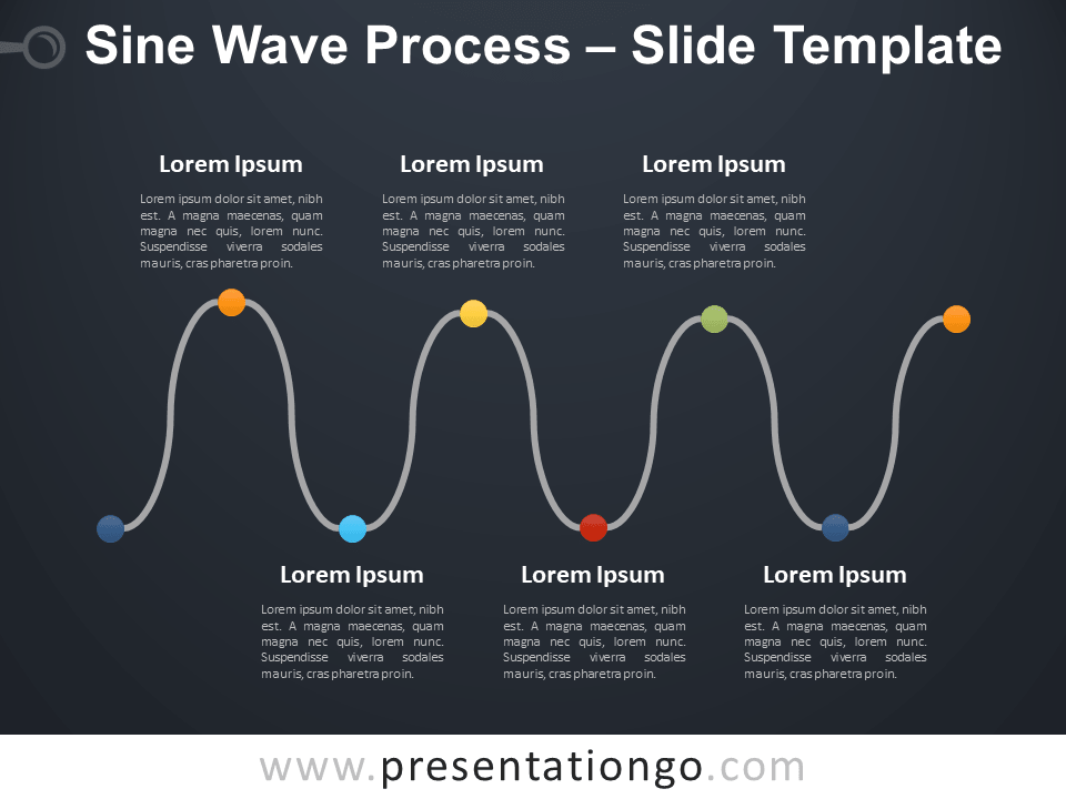 Free Sine Wave Process Diagram for PowerPoint