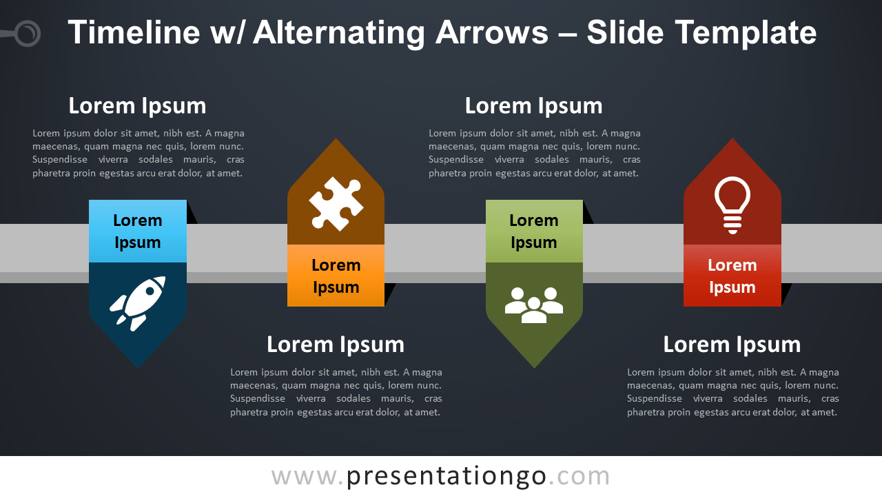 Timeline with Alternating Arrows - Free PowerPoint and Google Slides Template