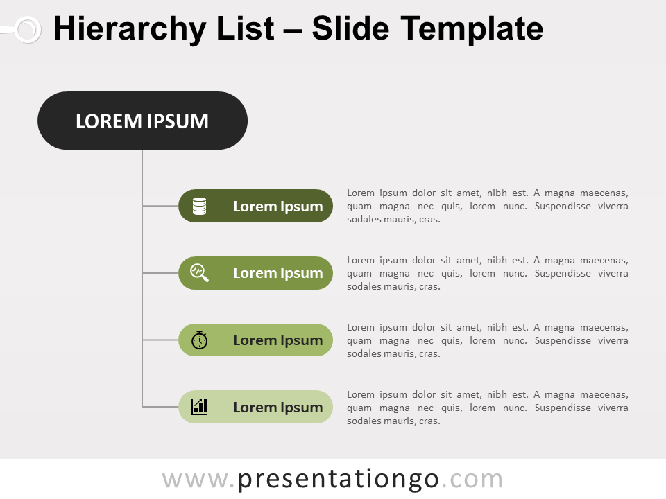 Free Vertical Hierarchy List for PowerPoint