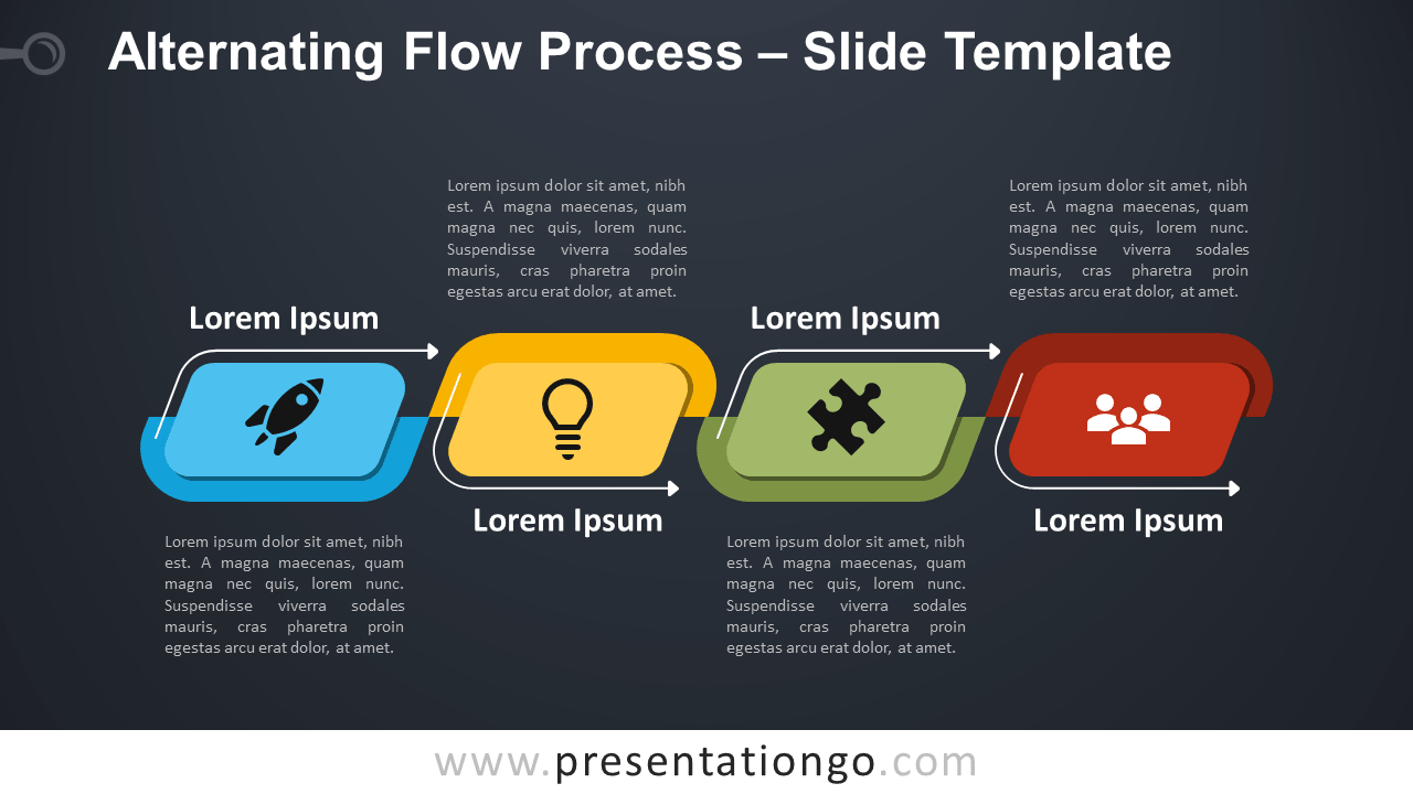Free Free Alternating Flow Process Diagram for PowerPoint and Google Slides