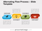 Free Free Alternating Flow Process Diagram for PowerPoint