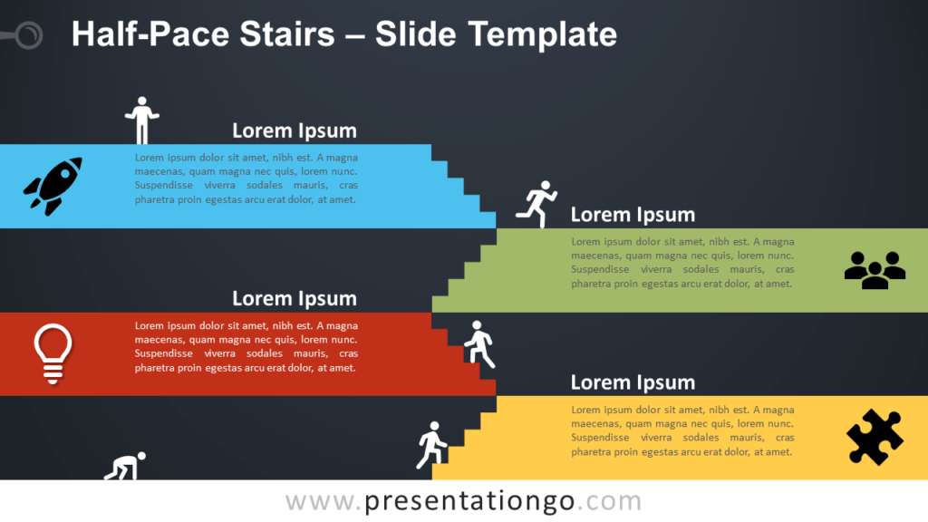 Free Halfpace Staircase for PowerPoint and Google Slides