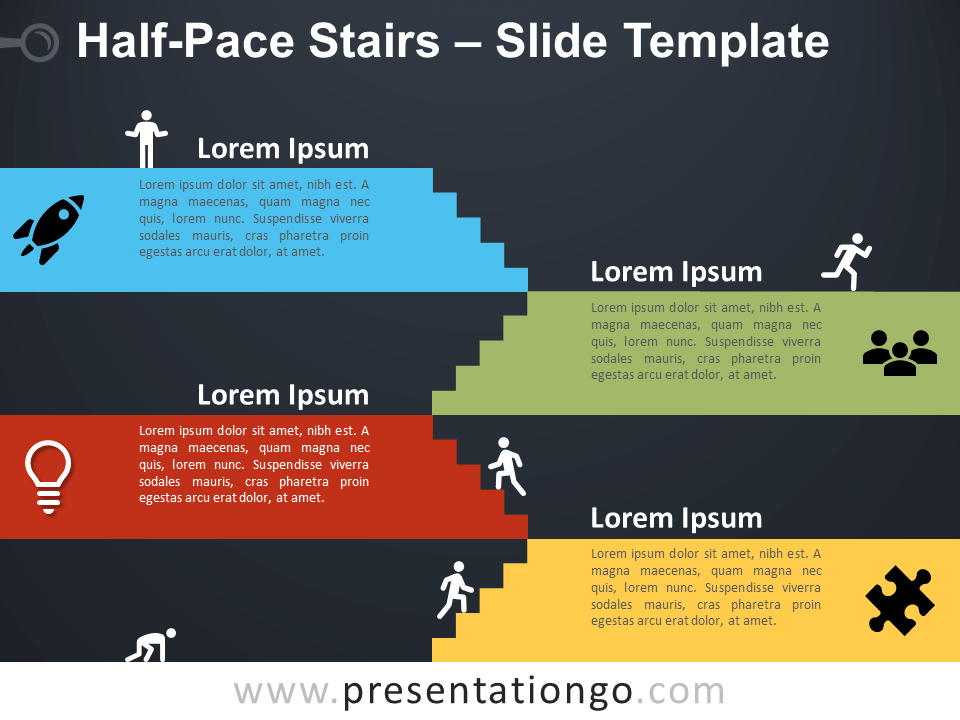 Free Halfpace Staircase for PowerPoint