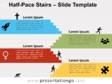 Free Halfpace Stairs for PowerPoint