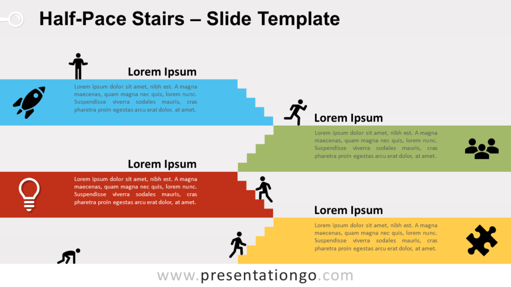 Free Halfpace Stairs for PowerPoint and Google Slides