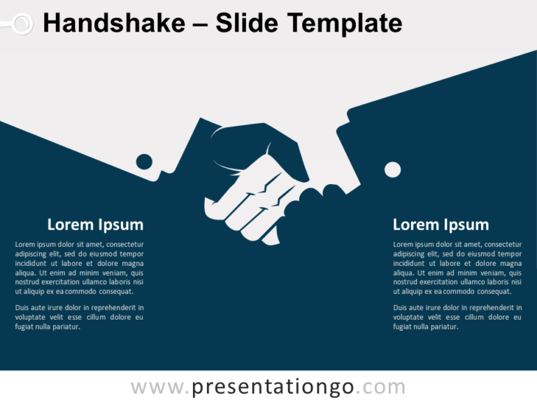 Free Handshake Template for PowerPoint