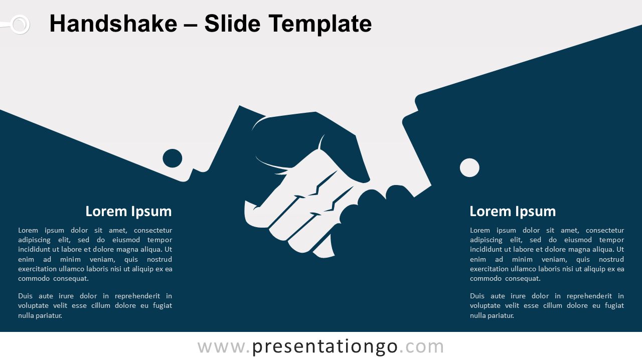 Free Handshake Template for PowerPoint and Google Slides