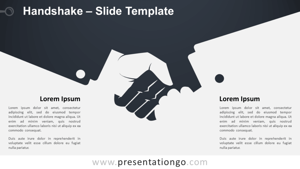Free Handshake Template Slide for PowerPoint and Google Slides