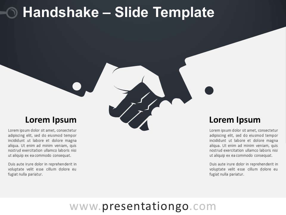 Free Handshake Template Slide for PowerPoint