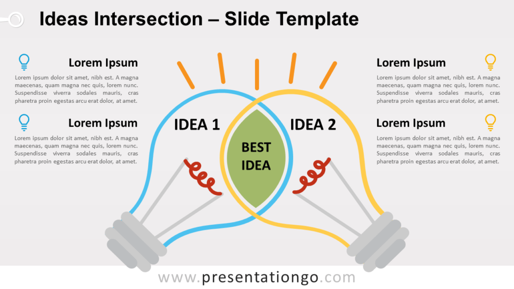 Free Ideas Intersection for PowerPoint and Google Slides