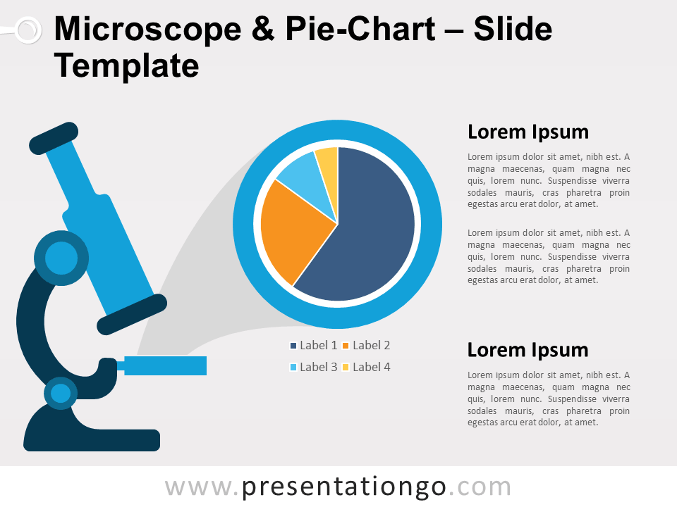 Free Microscope and Pie-Chart for PowerPoint