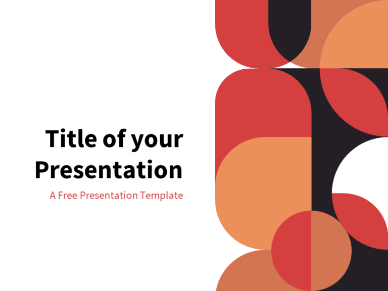 Modern - Free Abstract Geometry Template for PowerPoint
