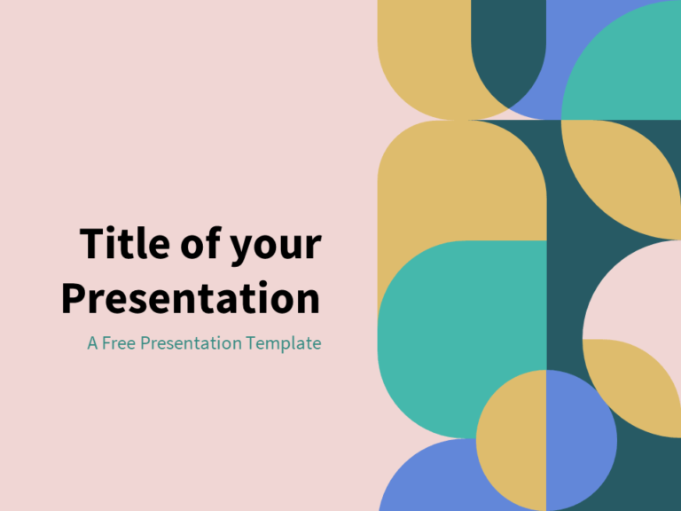 Pastel - Free Abstract Geometry Template for PowerPoint