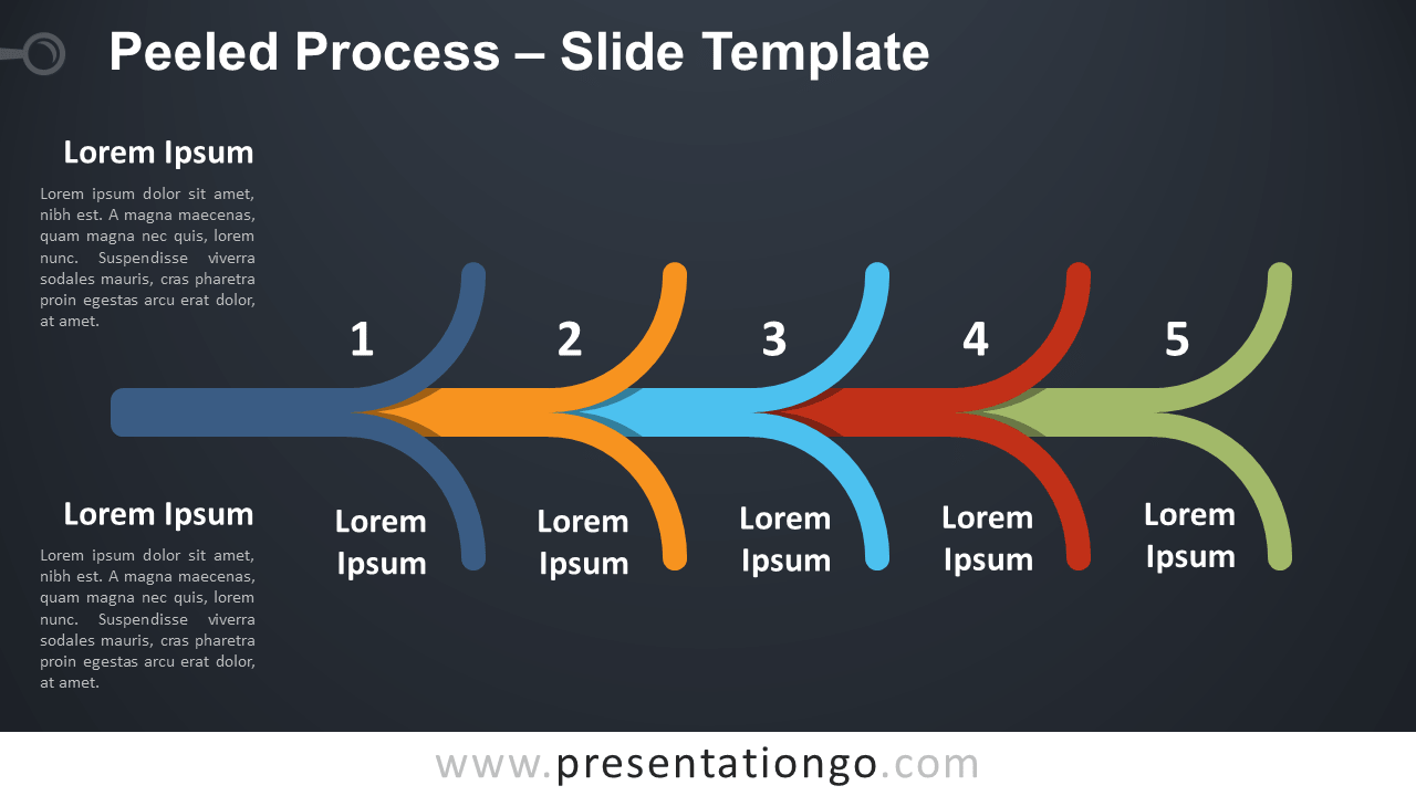 Free Peeled Process Diagram for PowerPoint and Google Slides