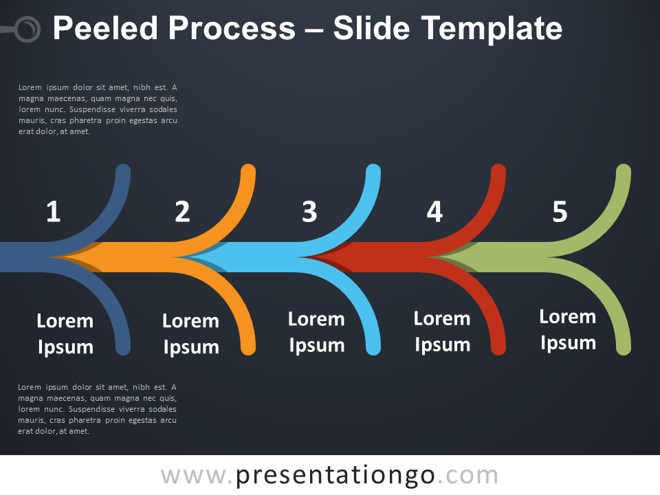 Free Peeled Process Diagram for PowerPoint