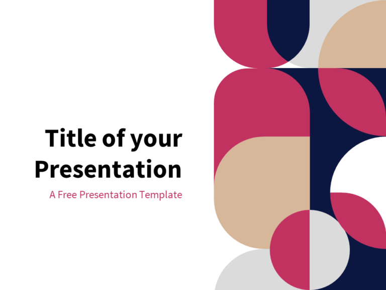 Premium - Free Abstract Geometry Template for PowerPoint