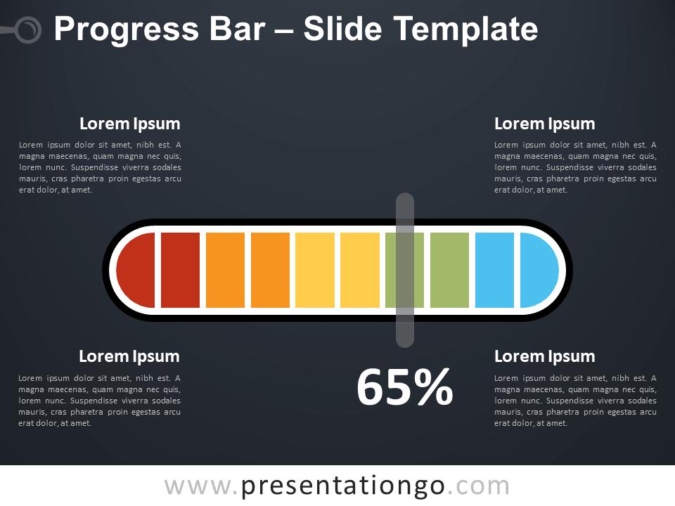 Free Progress Bar for PowerPoint (Dark Background)