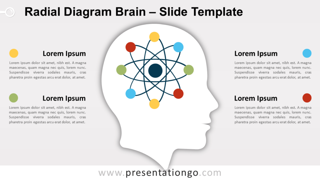 Free Radial Diagram Brain for PowerPoint and Google Slides