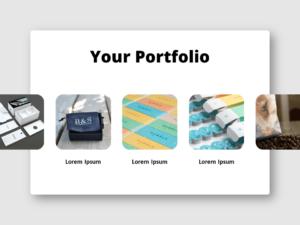 Free Slideshow-Style Portfolio for PowerPoint