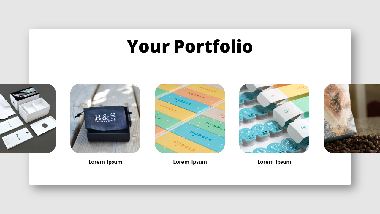 Free Slideshow-Style Portfolio for PowerPoint and Google Slides